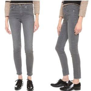 Madewell Gray Skinny High Riser Jeans